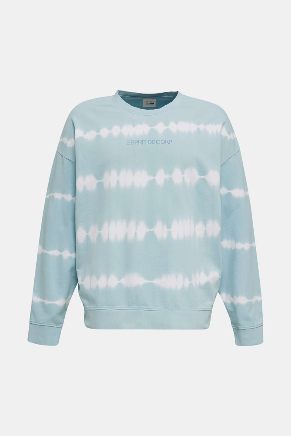 Batik sweatshirt with organic cotton, LIGHT BLUE 4, detail image number 7