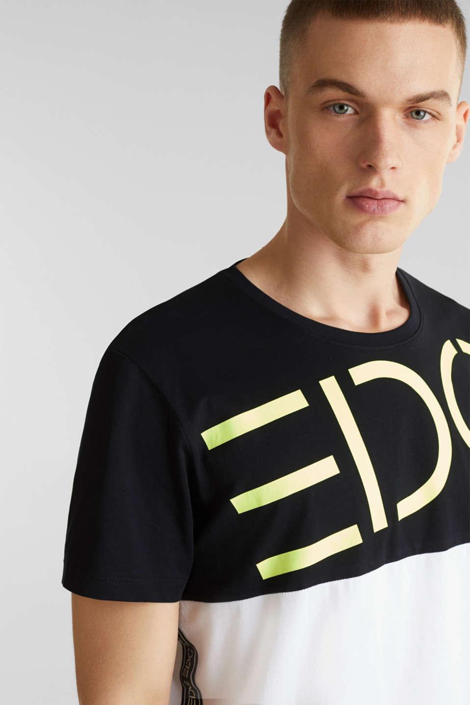 Jersey logo T-shirt, 100% cotton, BLACK 2, detail image number 4