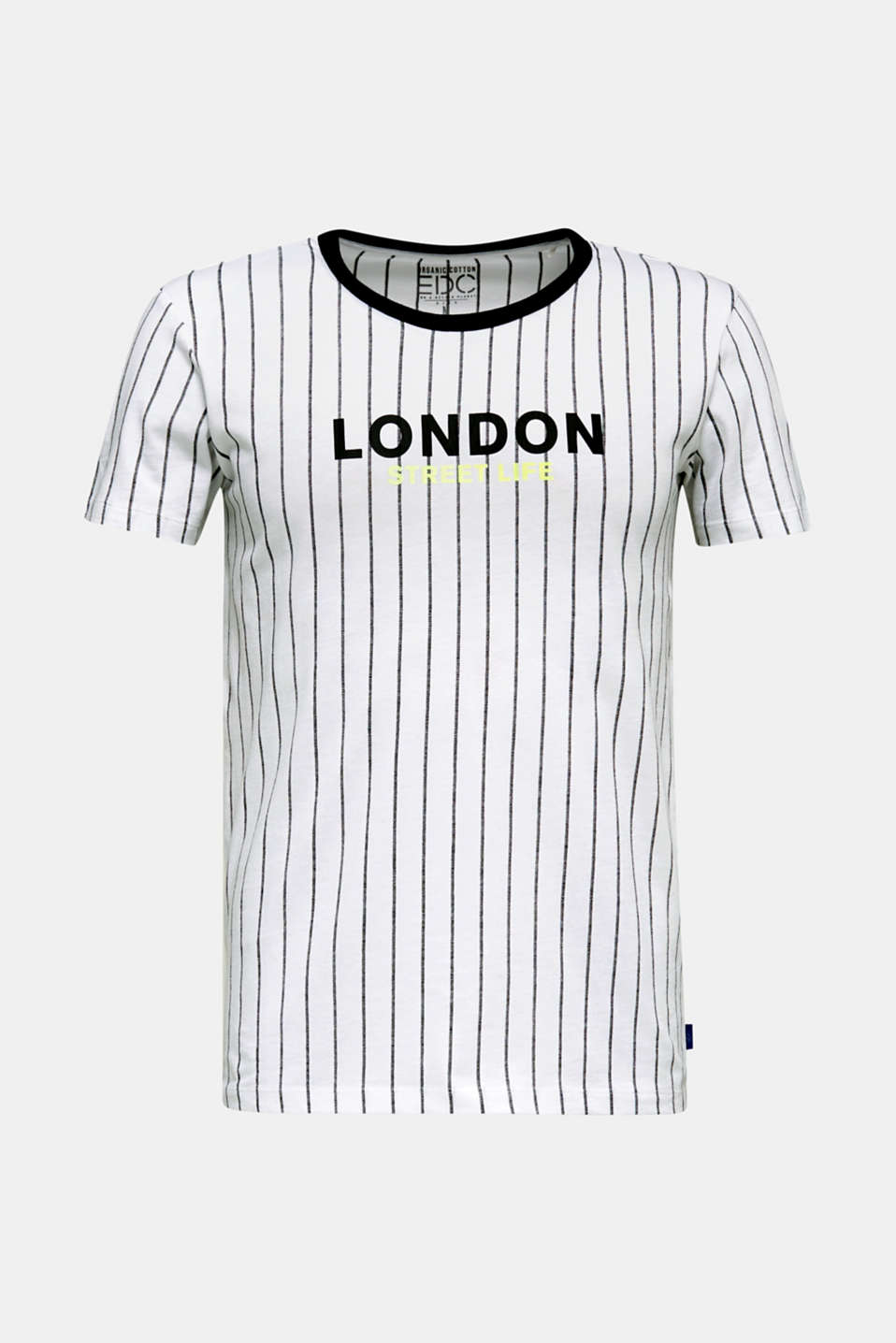 Jersey T-shirt with stripes, 100% cotton, WHITE 3, detail image number 5