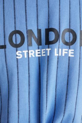 Jersey T-shirt with stripes, 100% cotton, LIGHT BLUE 3, detail