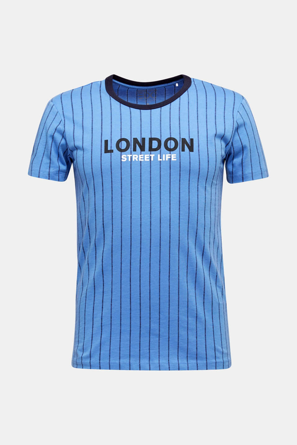 Jersey T-shirt with stripes, 100% cotton, LIGHT BLUE 3, detail image number 6