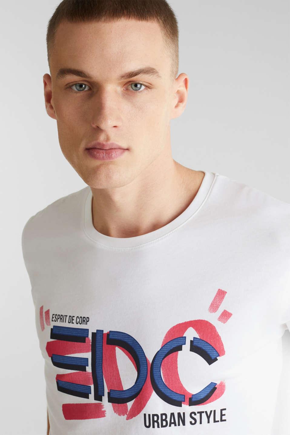 Jersey logo T-shirt, 100% cotton, WHITE, detail image number 5