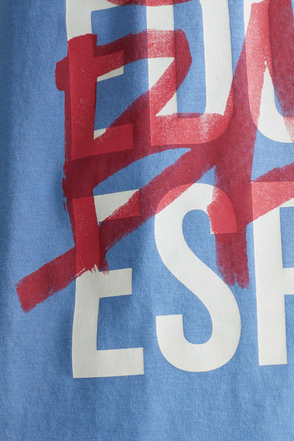 Jersey T-shirt with logo print, 100% cotton, LIGHT BLUE, detail image number 5