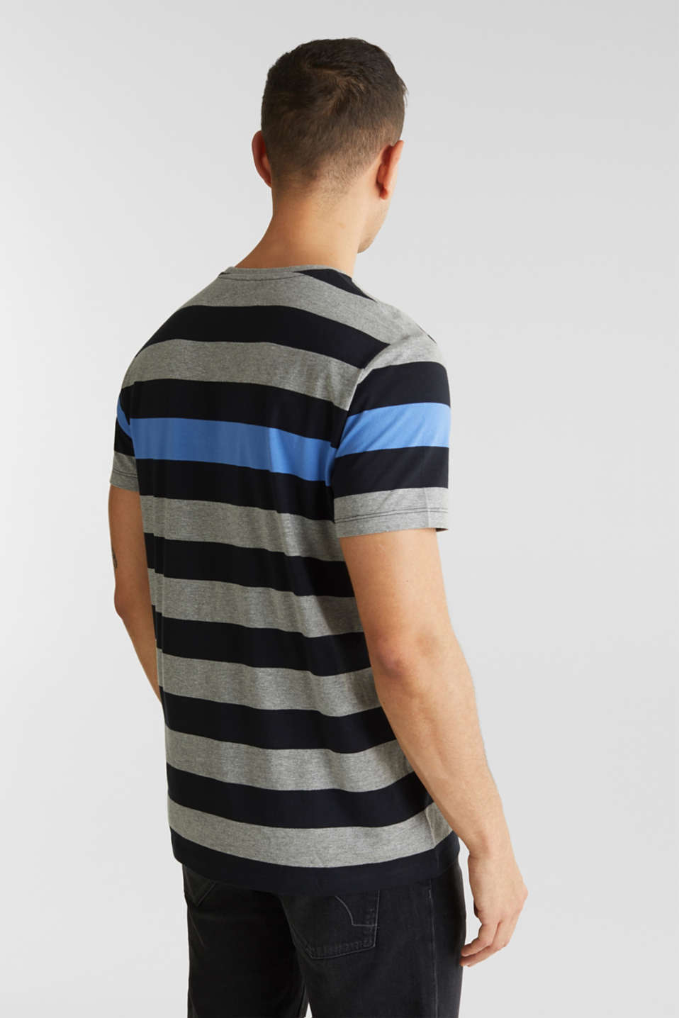 Striped jersey T-shirt, BLACK 3, detail image number 3