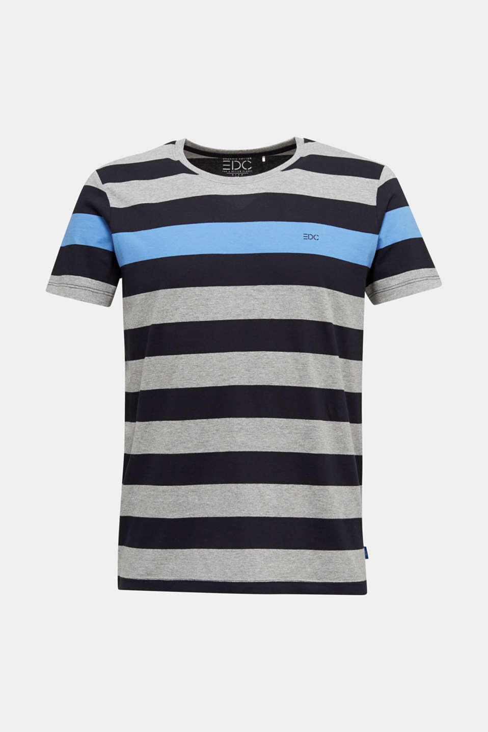 Striped jersey T-shirt, BLACK 3, detail image number 6