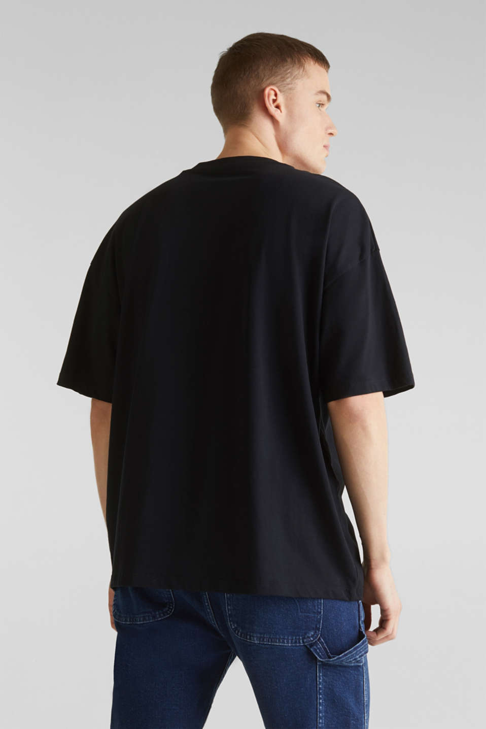 T-shirt with organic cotton, BLACK, detail image number 3