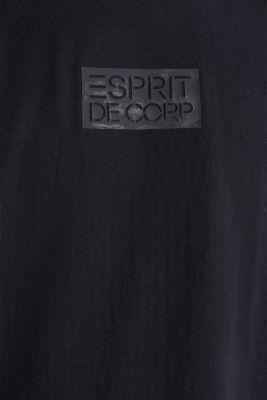 T-shirt with organic cotton, BLACK, detail