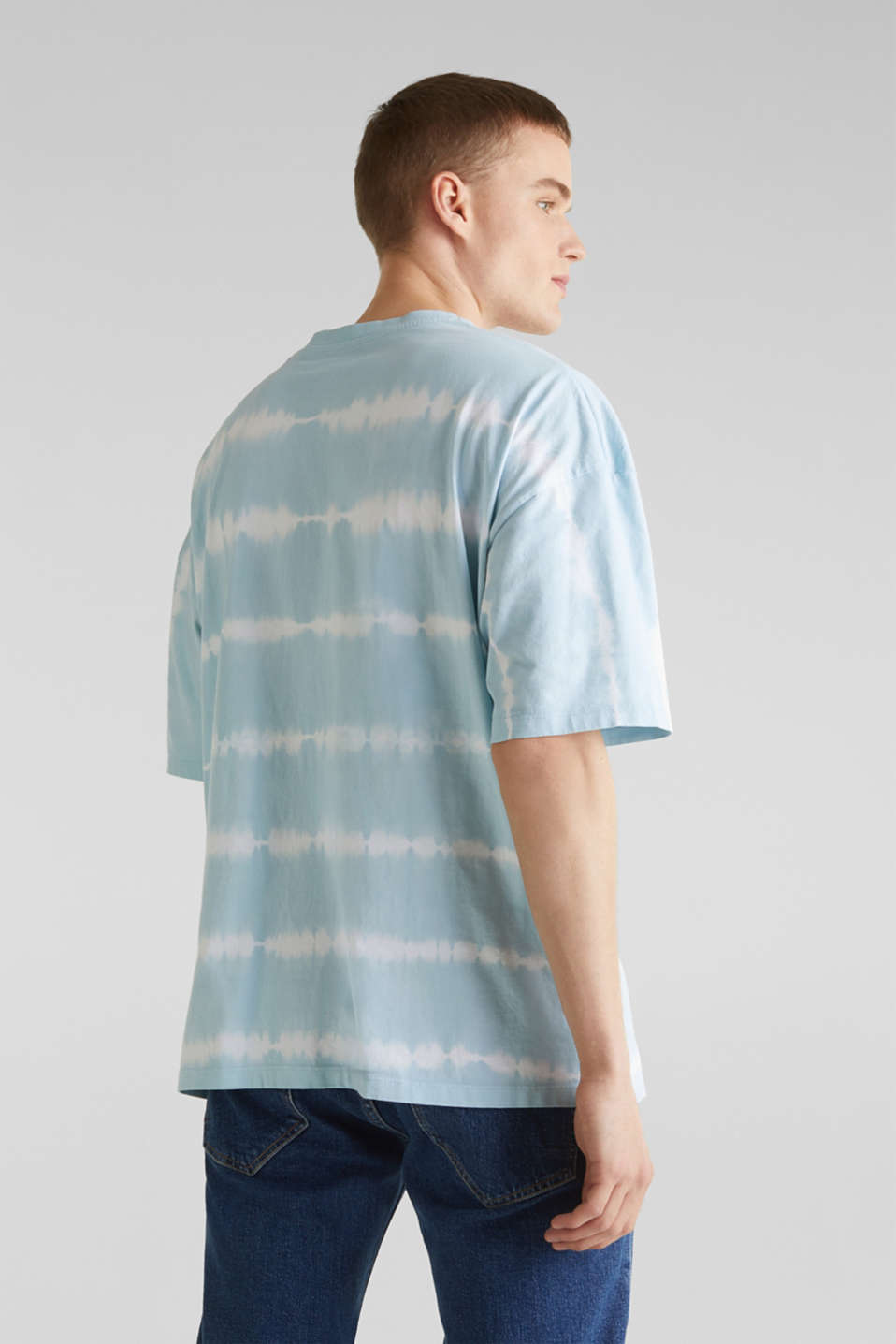 Batik T-shirt with organic cotton, LIGHT BLUE 4, detail image number 3