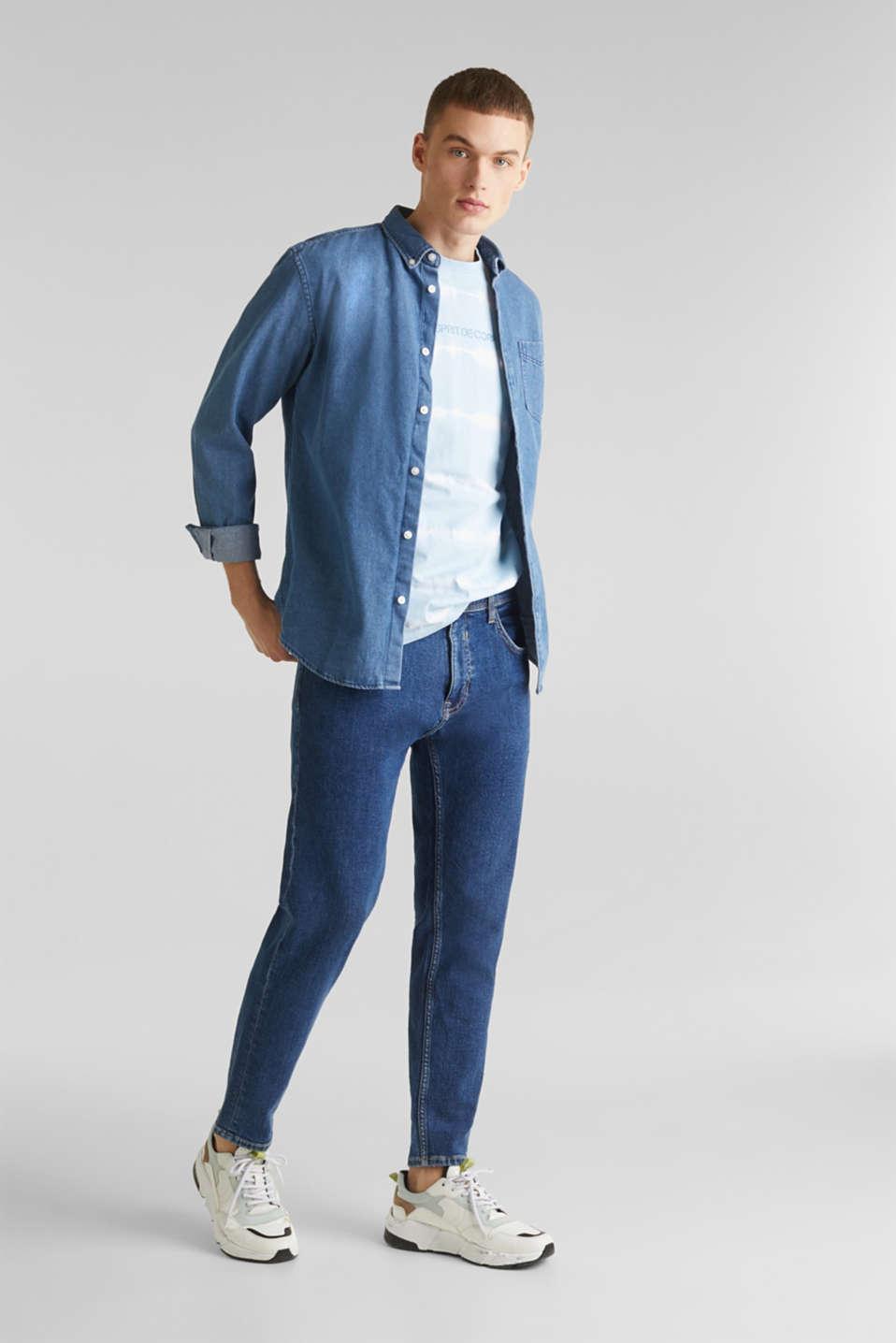 Batik T-shirt with organic cotton, LIGHT BLUE 4, detail image number 2