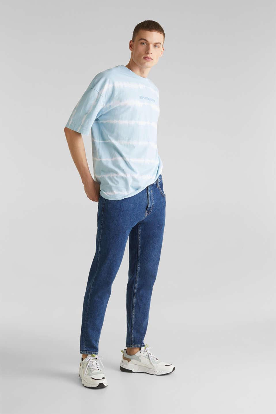 Batik T-shirt with organic cotton, LIGHT BLUE 4, detail image number 7