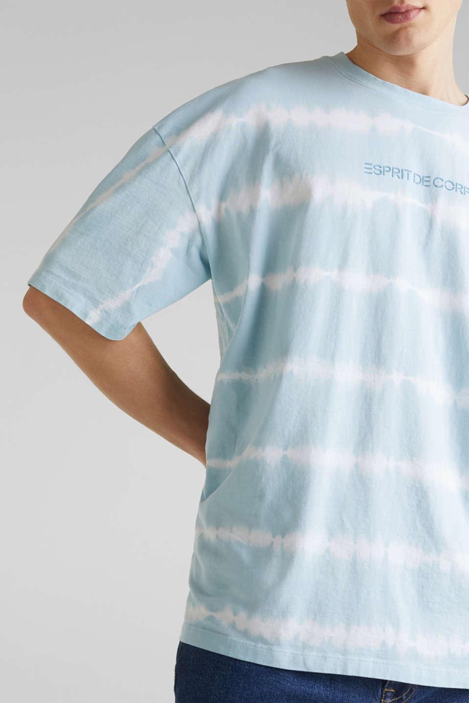 Batik T-shirt with organic cotton, LIGHT BLUE 4, detail image number 1