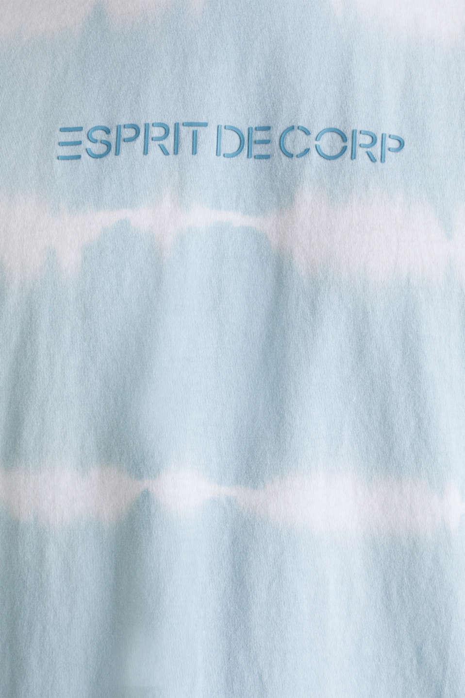 Batik T-shirt with organic cotton, LIGHT BLUE 4, detail image number 5
