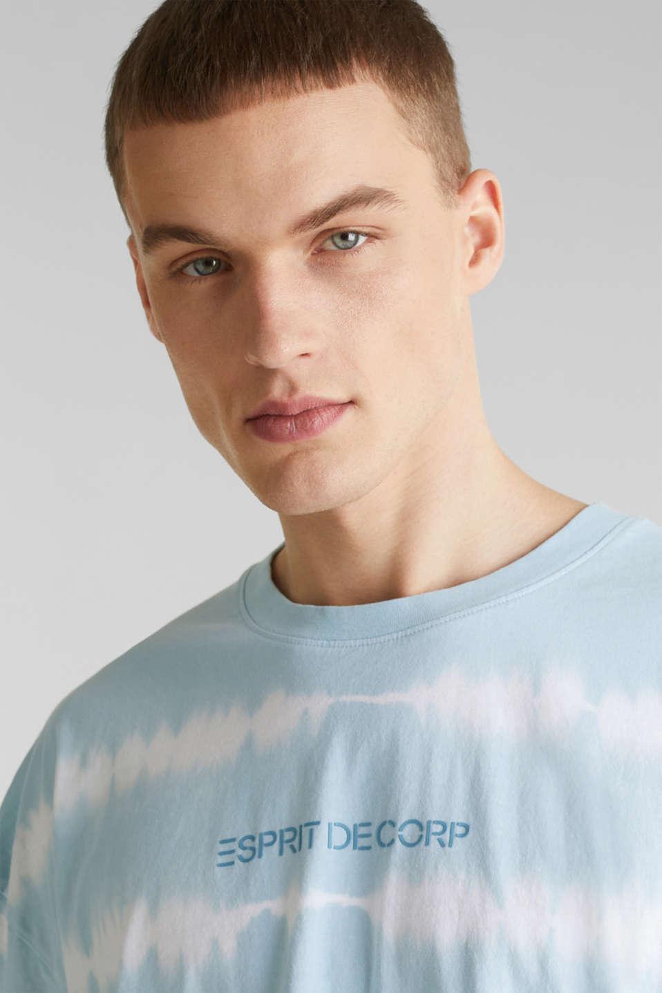 Batik T-shirt with organic cotton, LIGHT BLUE 4, detail image number 6