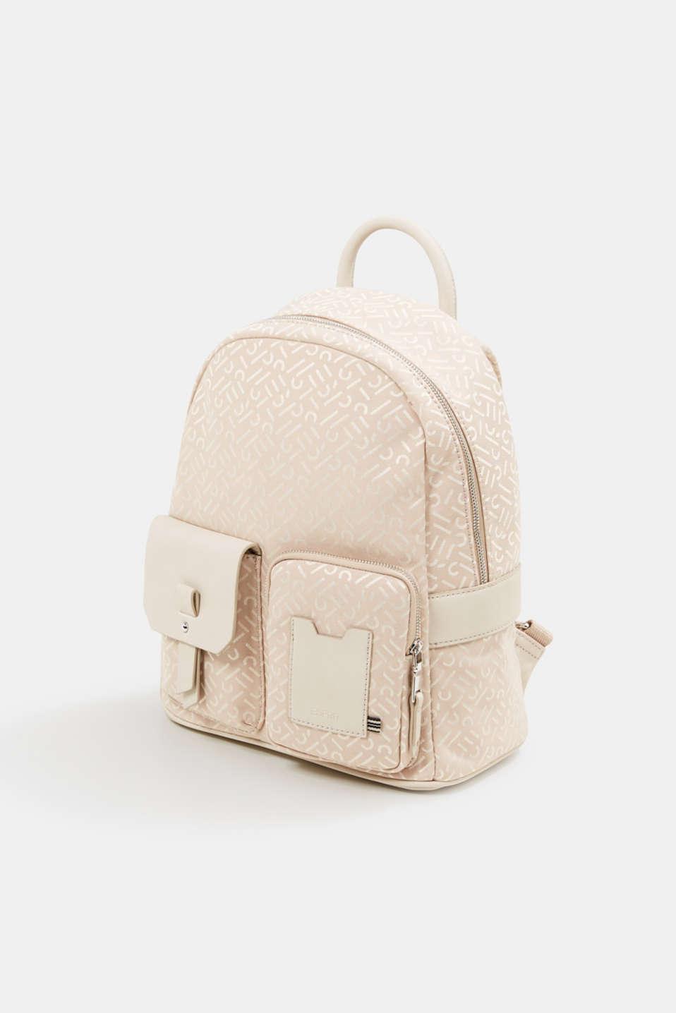 Monogrammed business rucksack, BEIGE, detail image number 2