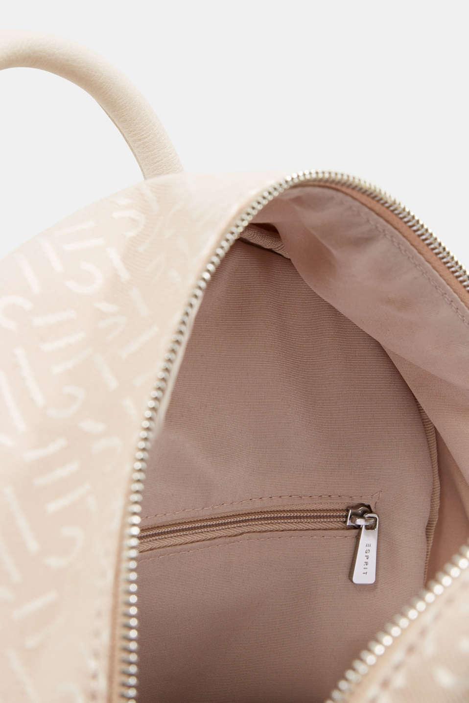 Monogrammed business rucksack, BEIGE, detail image number 4