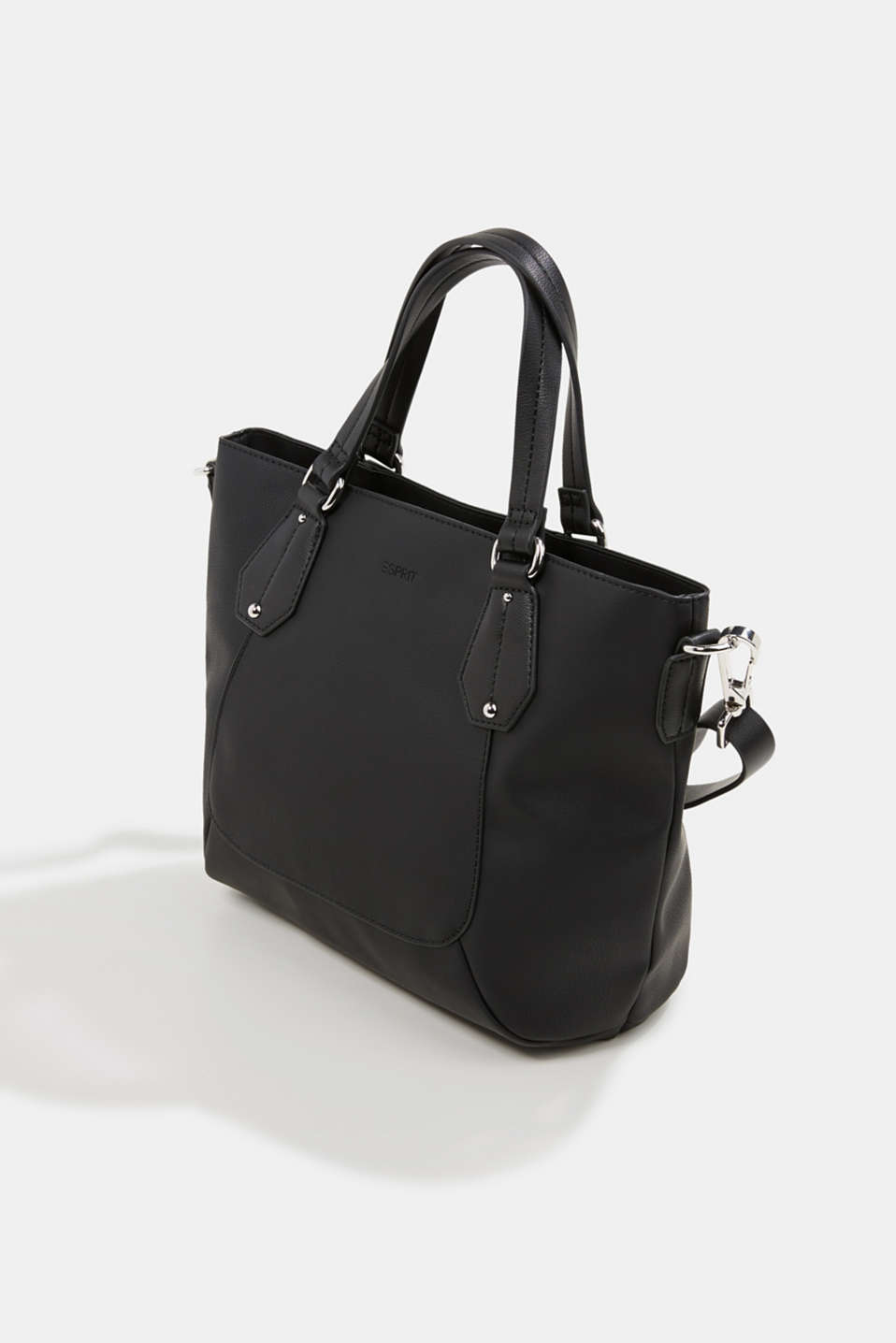 Faux leather shoulder bag, vegan, BLACK, detail image number 2