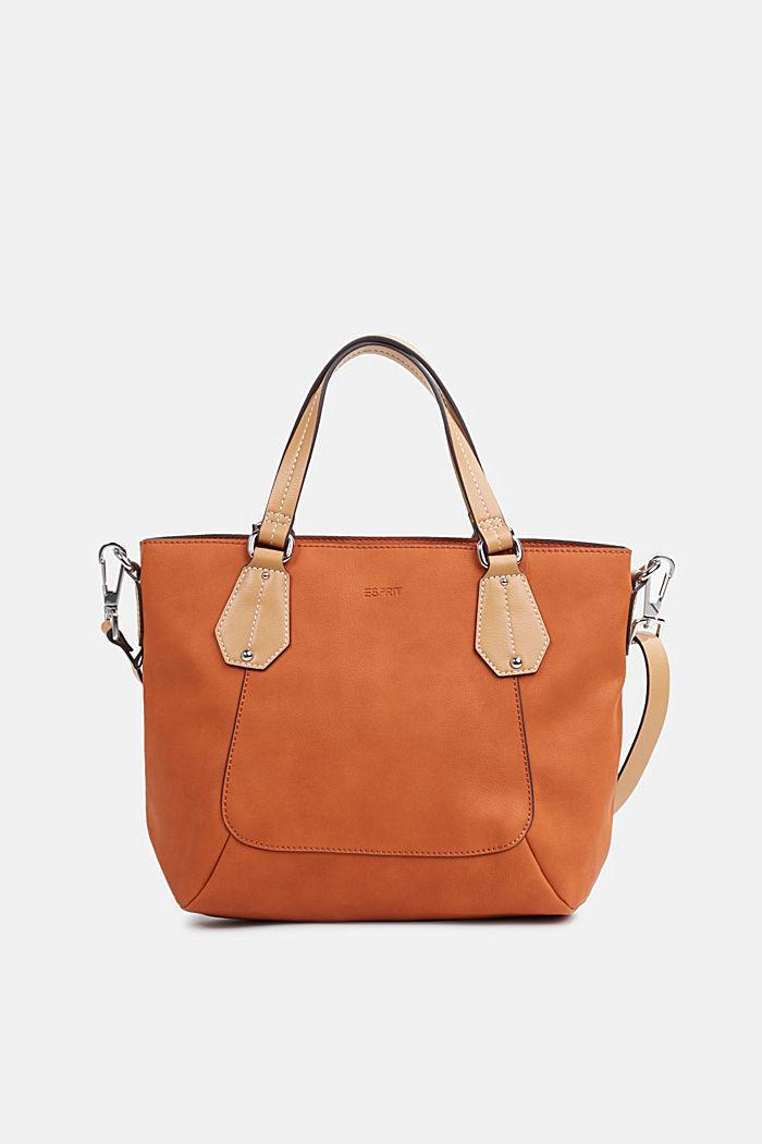 City Bag in Leder-Optik, vegan, BURNT ORANGE, detail image number 0
