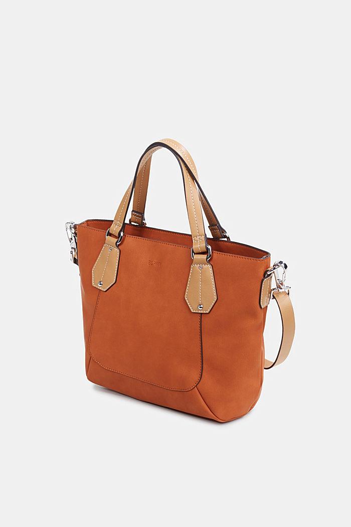 City Bag in Leder-Optik, vegan, BURNT ORANGE, detail image number 2