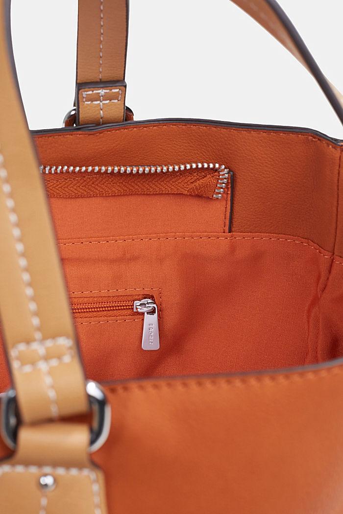 City Bag in Leder-Optik, vegan, BURNT ORANGE, detail image number 4