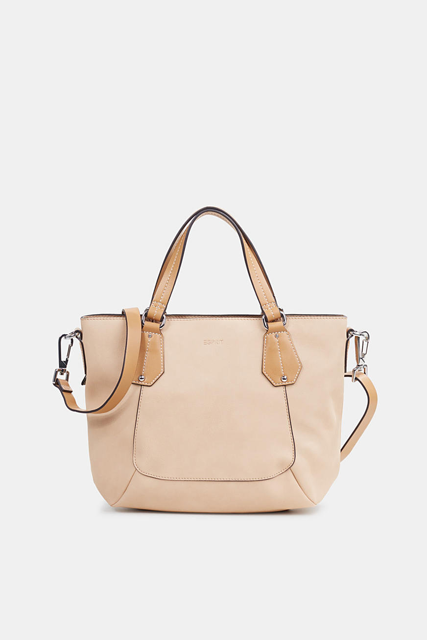 Faux leather shoulder bag, vegan