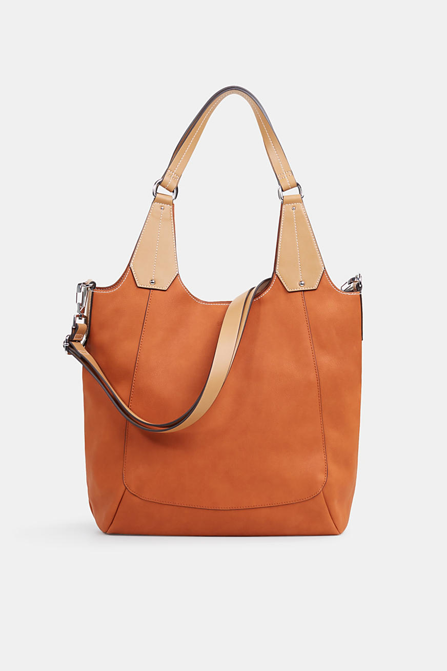 Bolso shopper XL en polipiel, vegano