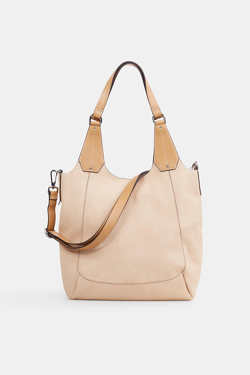 XL shopper in faux leather, vegan