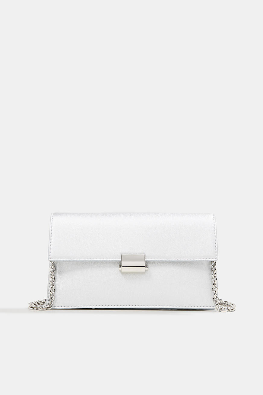 Clutch with shoulder chain, vegan