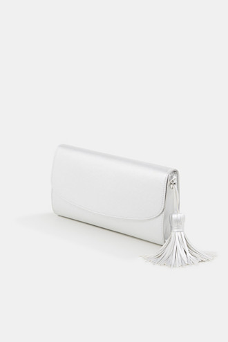 Faux leather clutch, vegan