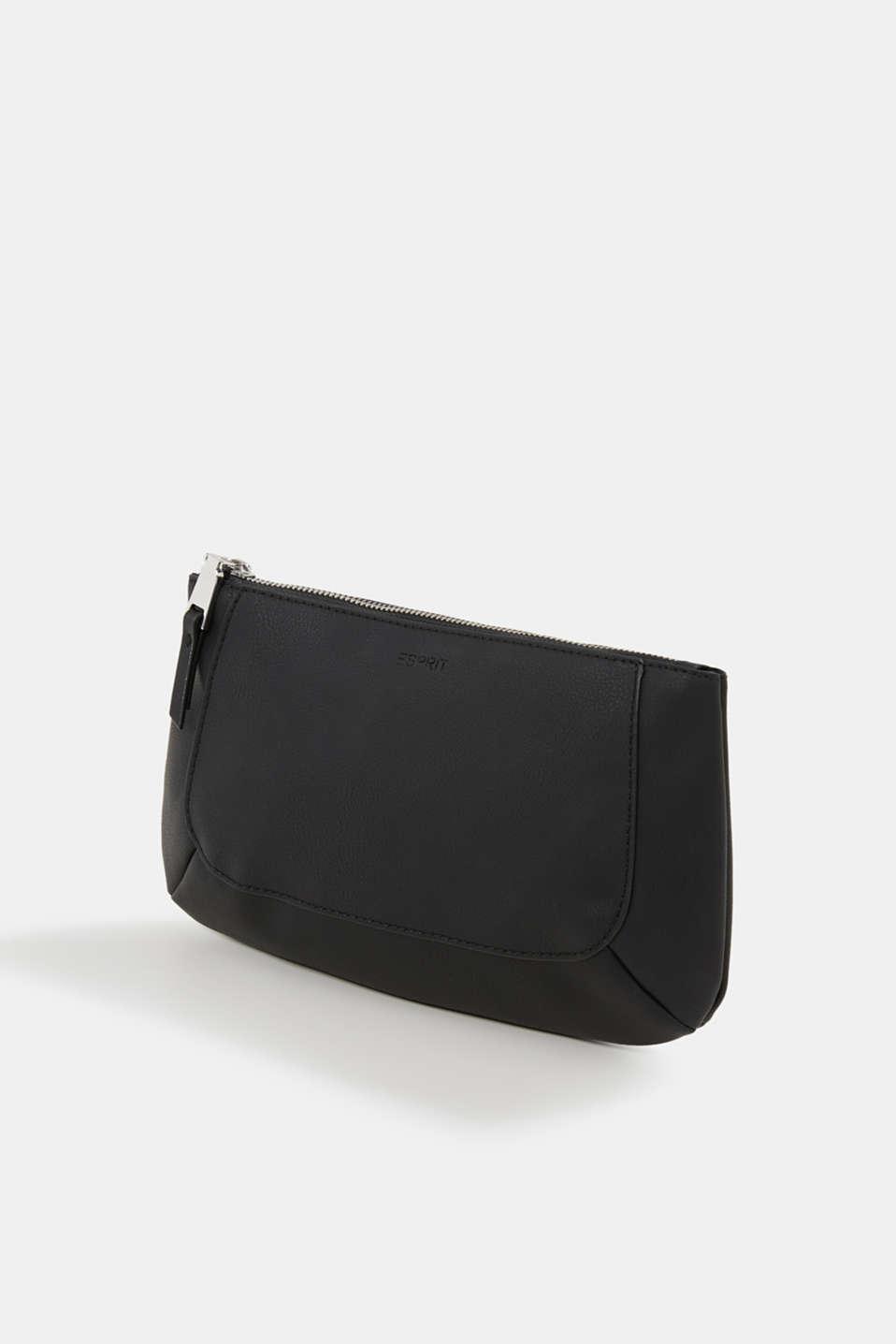 Faux leather make-up bag, BLACK, detail image number 2