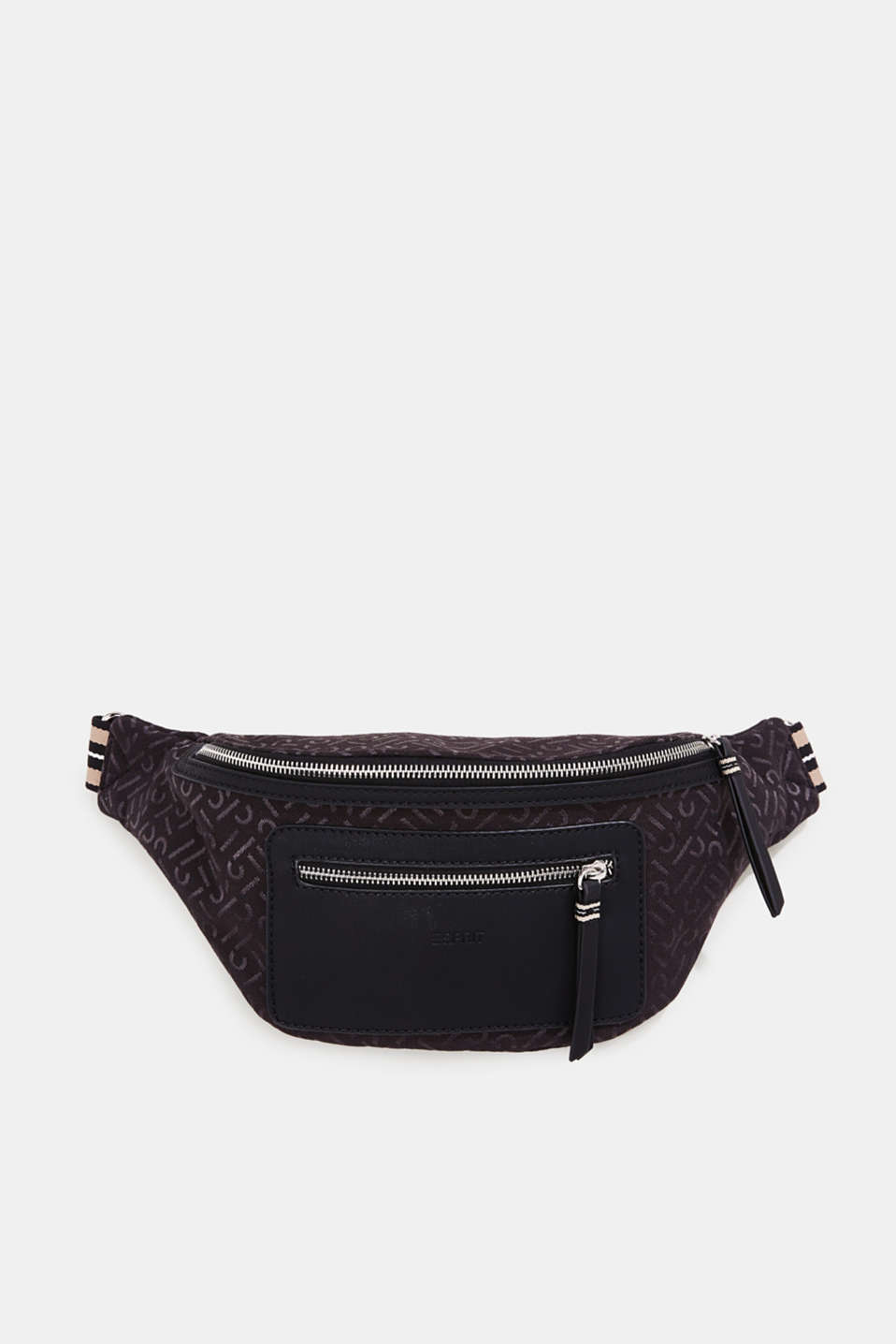 Bum bag with all-over monograms, BLACK, detail image number 0