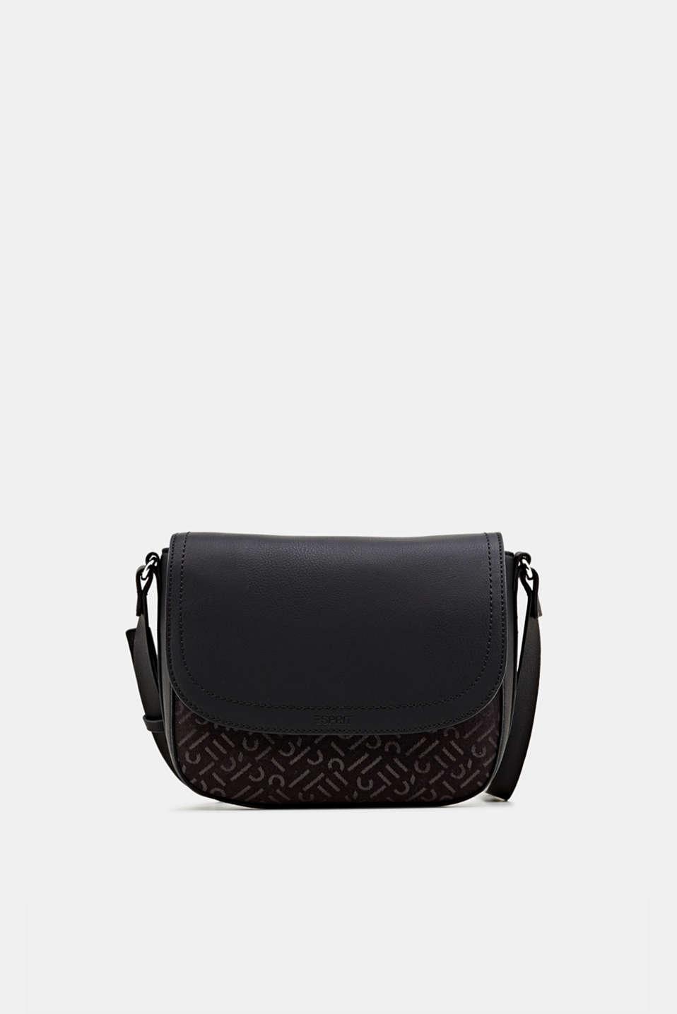 Shoulder bag with a monogram pattern, BLACK, detail image number 0