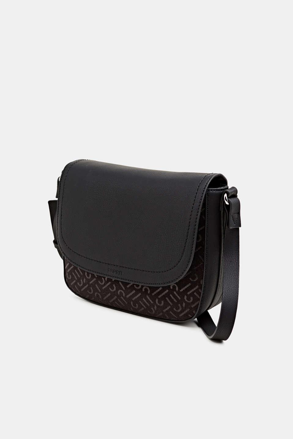 Shoulder bag with a monogram pattern, BLACK, detail image number 2