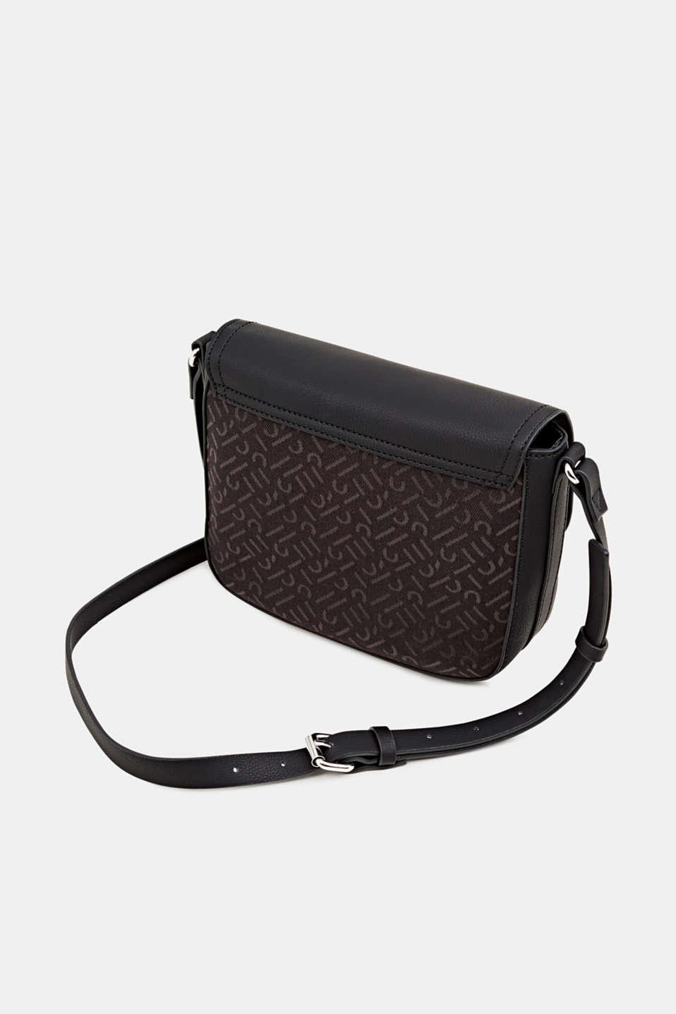 Shoulder bag with a monogram pattern, BLACK, detail image number 5