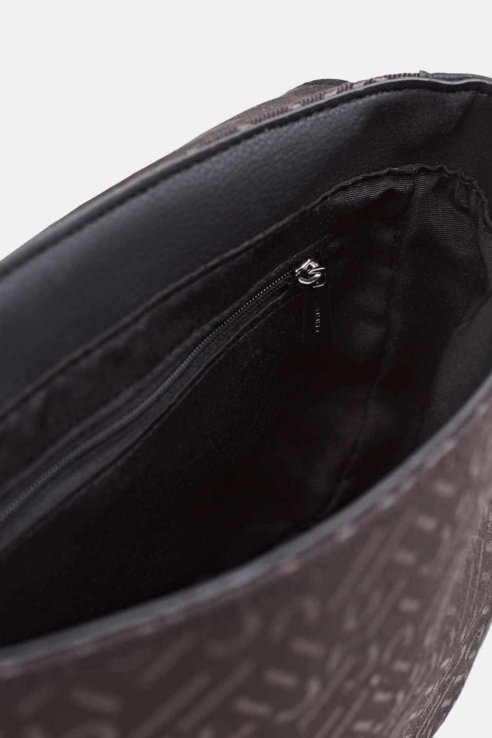 Shoulder bag with a monogram pattern, BLACK, detail image number 4