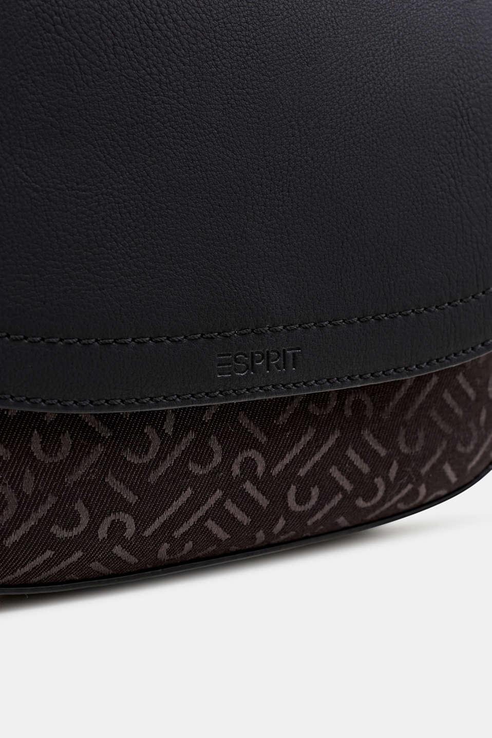 Shoulder bag with a monogram pattern, BLACK, detail image number 3