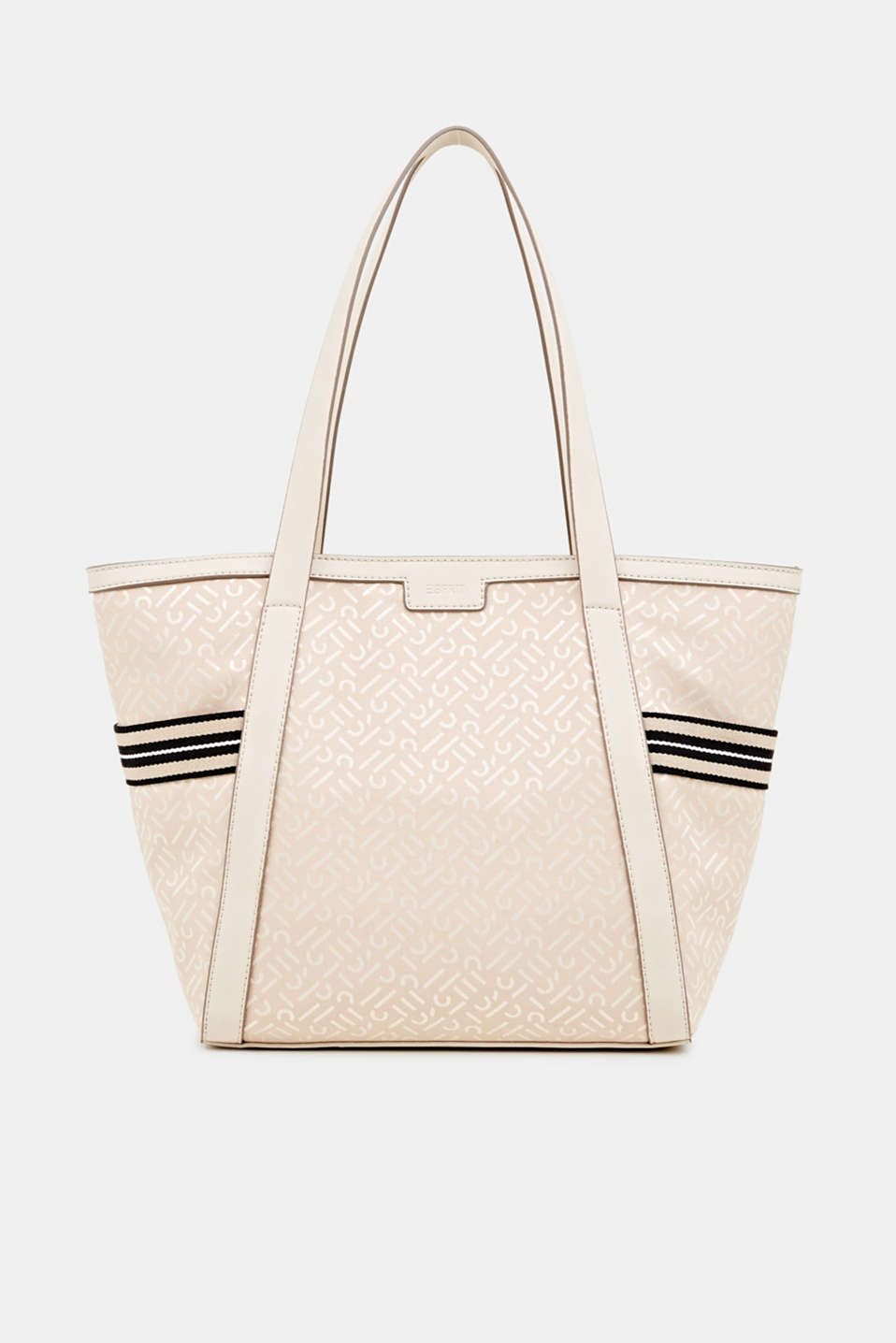 Esprit - Monogram tote bag in a mix of materials