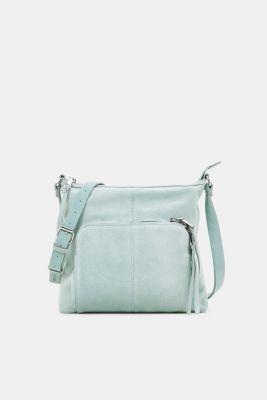 Suede shoulder bag, DUSTY GREEN, detail