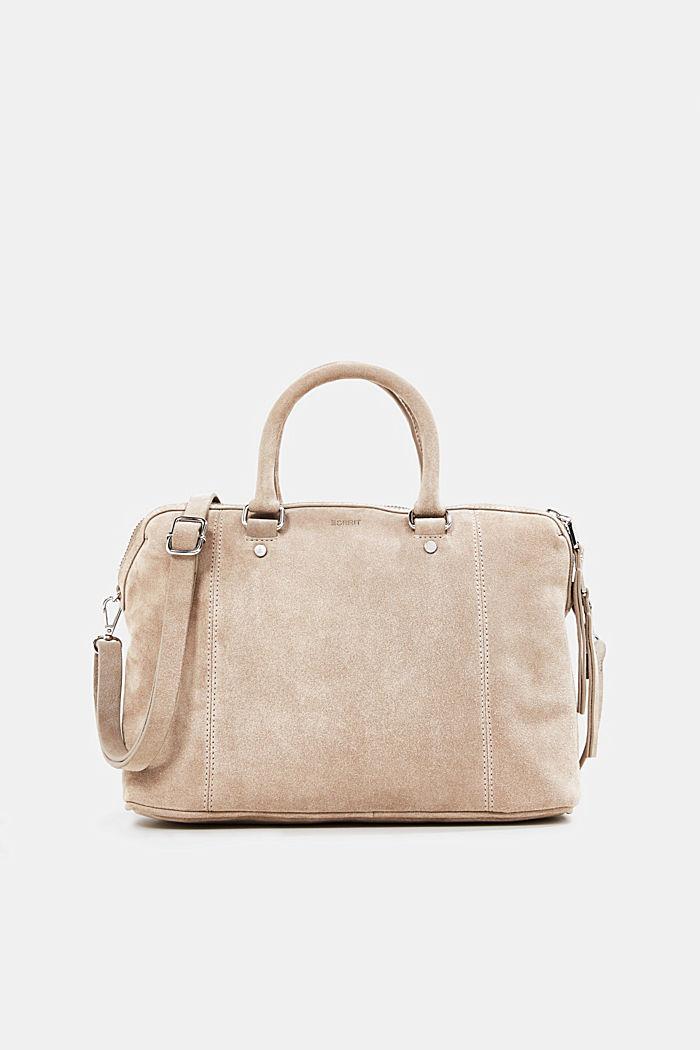 City bag van 100% suède, BEIGE, detail image number 0