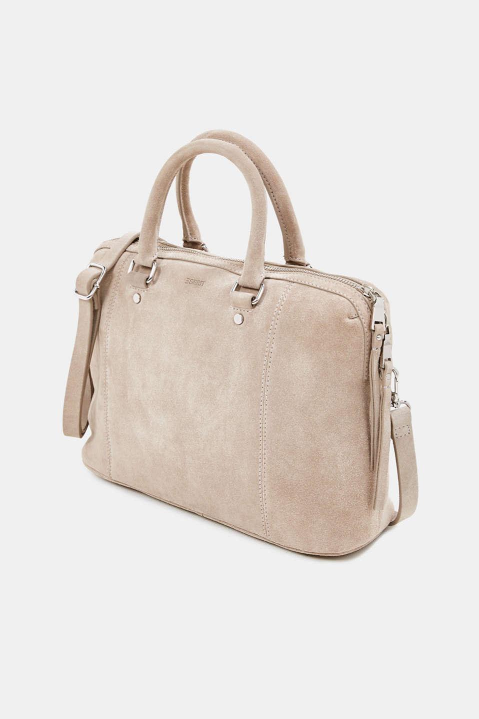 Shopper made of 100% suede, BEIGE, detail image number 2