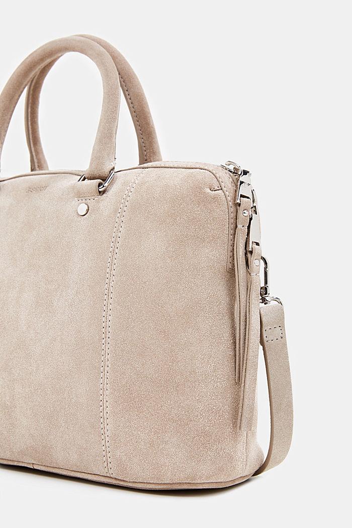 City bag van 100% suède, BEIGE, detail image number 5