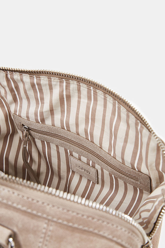 City bag van 100% suède, BEIGE, detail image number 4