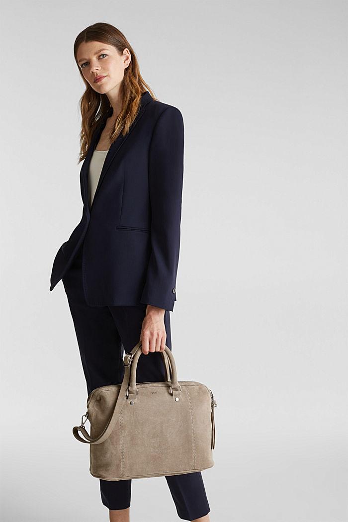 City bag van 100% suède, BEIGE, detail image number 1