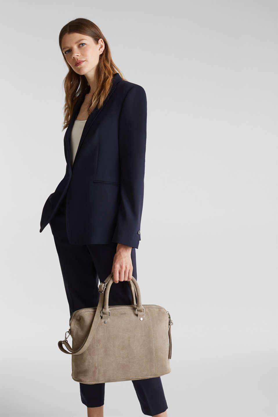 Shopper made of 100% suede, BEIGE, detail image number 1