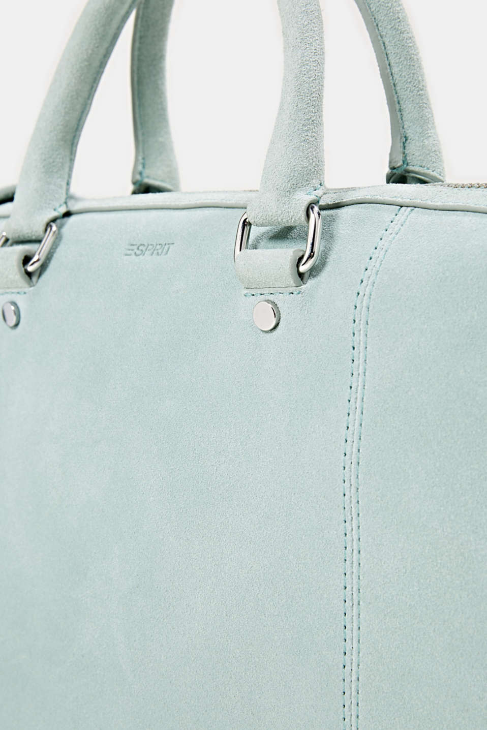 Shopper made of 100% suede, DUSTY GREEN, detail image number 3
