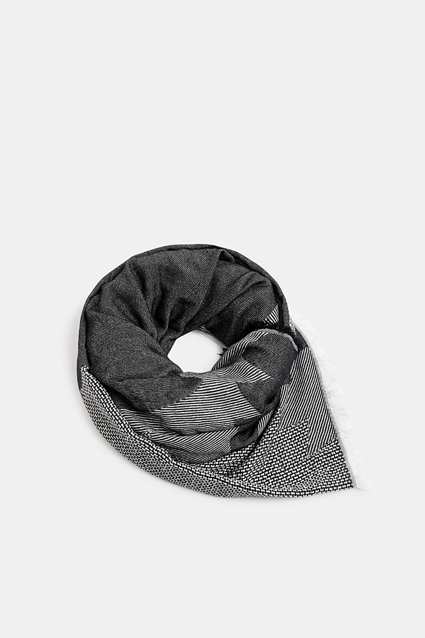 Scarf with woven structure, 100% cotton