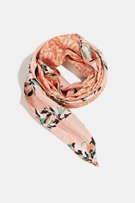 Scarf made of 100% organic silk, SALMON, detail