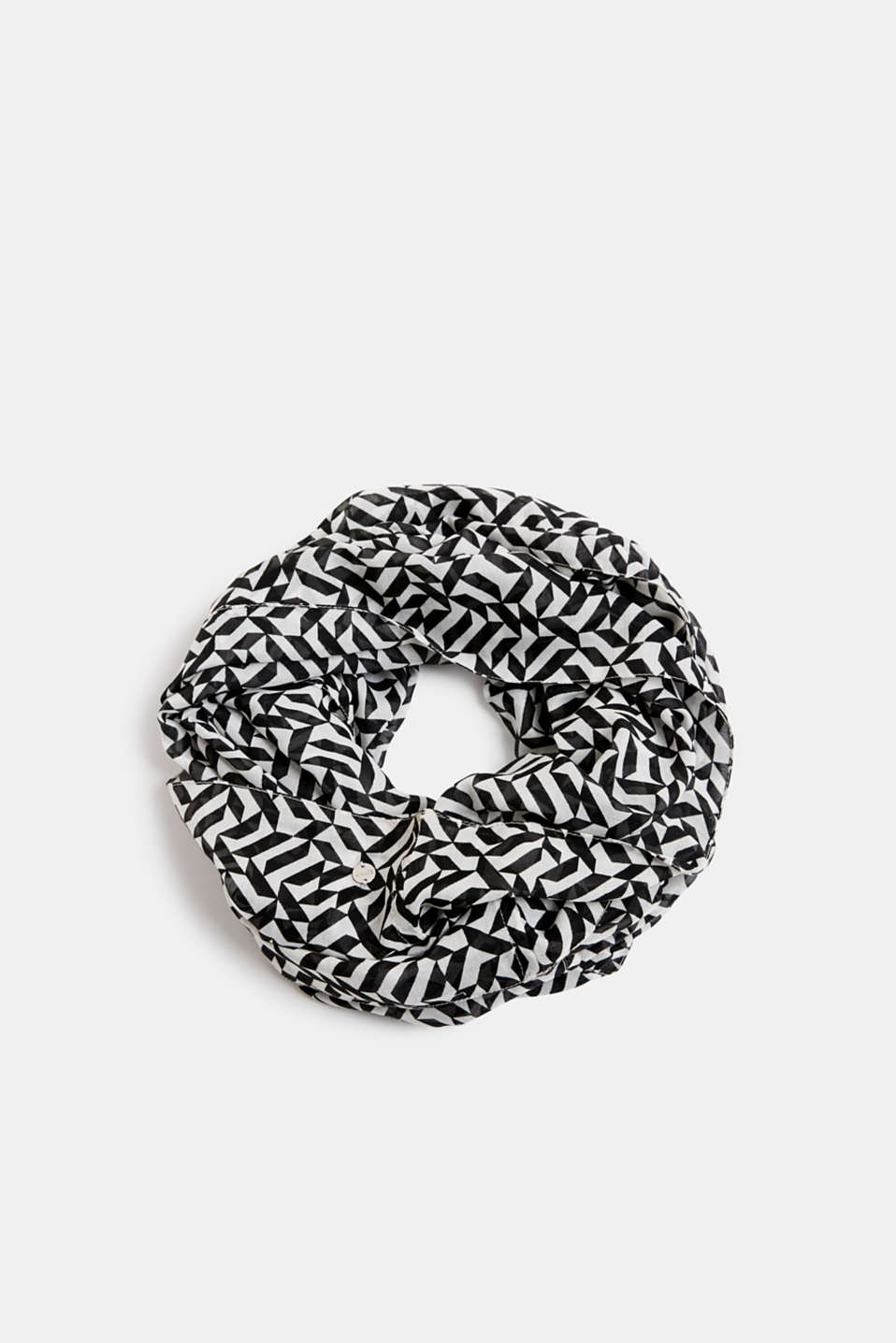 Printed snood, recycled, OFF WHITE, detail image number 0