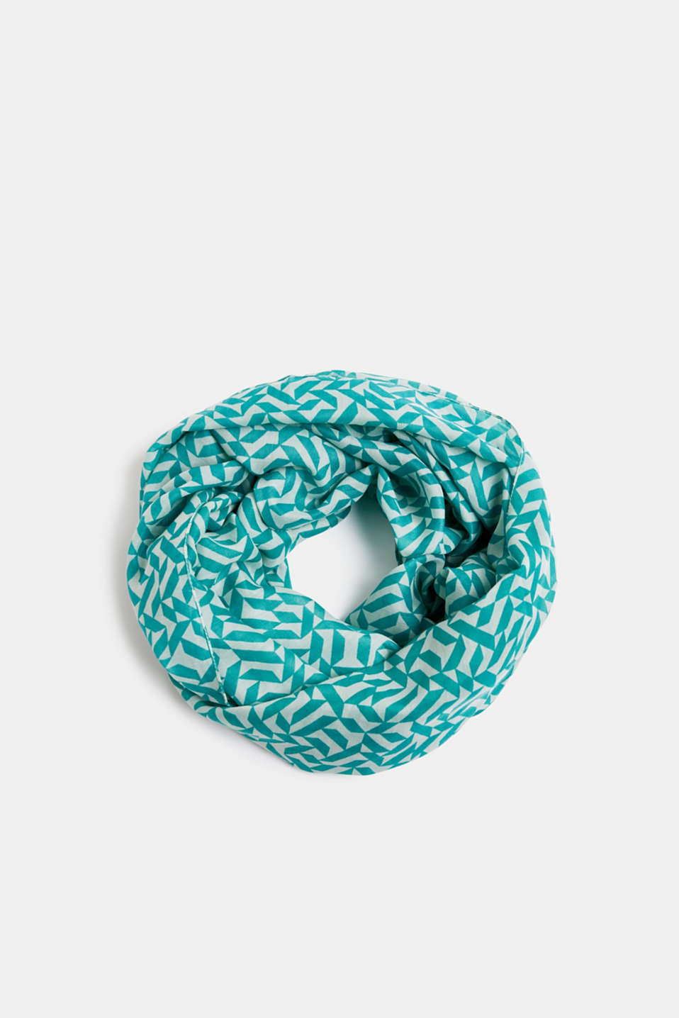 Printed snood, recycled, DUSTY GREEN, detail image number 0