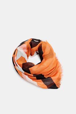 REPREVE block stripe scarf, recycled, ORANGE, detail