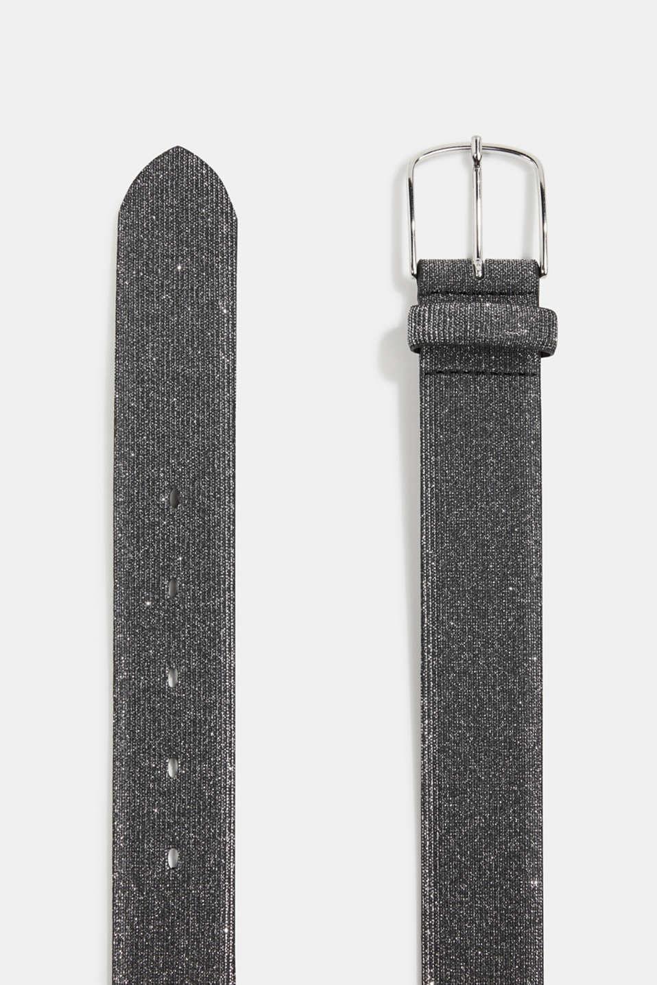 Belt with glitter, BLACK, detail image number 1